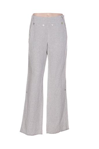 echappees belles pantalons femme de couleur gris