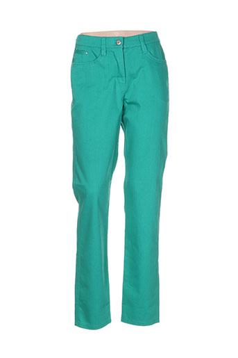 oscar b pantalons femme de couleur vert