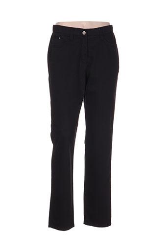 oscar b pantalons femme de couleur noir