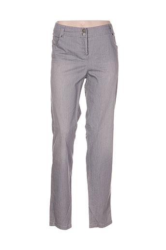 Pantalon casual gris MADO ET LES AUTRES pour femme