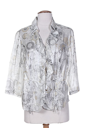 fred sabatier chemises femme de couleur gris