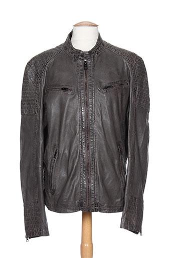 oakwood vestes homme de couleur gris