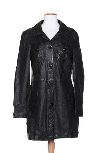 oakwood manteaux femme de couleur noir