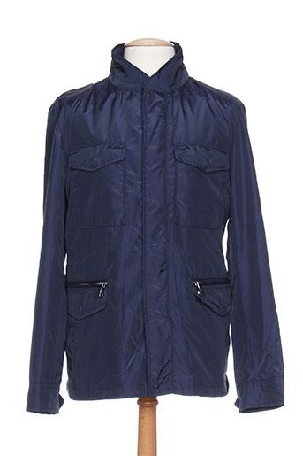 marciano manteaux homme de couleur bleu
