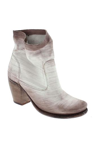 felmini boots femme de couleur blanc