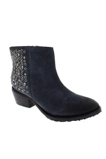 any boots chaussures femme de couleur bleu