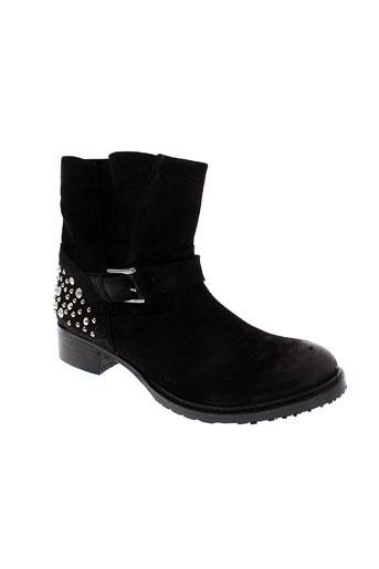 any boots chaussures femme de couleur noir