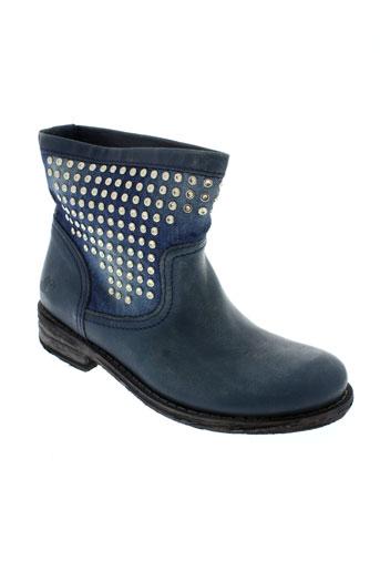 felmini chaussures femme de couleur bleu