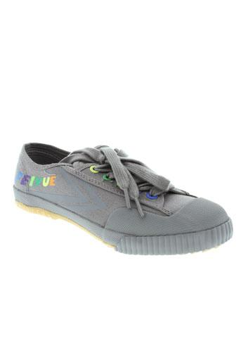 feiyue chaussures garçon de couleur gris