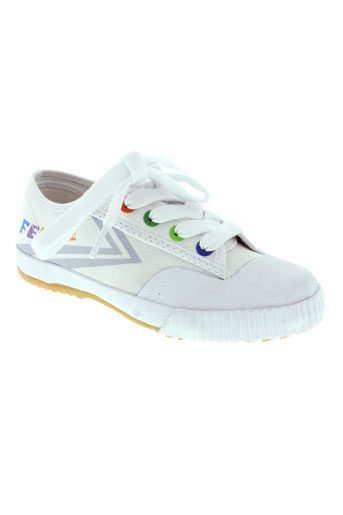 feiyue baskets enfant de couleur blanc