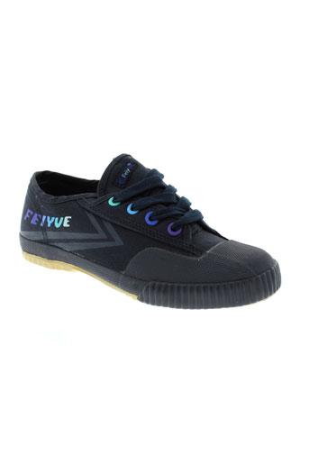 feiyue chaussures enfant de couleur bleu