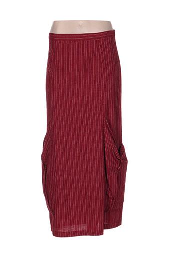 mitsouki jupes femme de couleur rouge