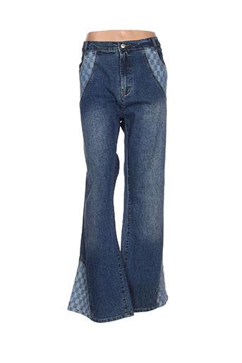c.luxe jeans femme de couleur bleu
