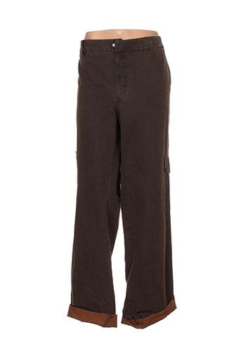 cafone pantalons femme de couleur marron