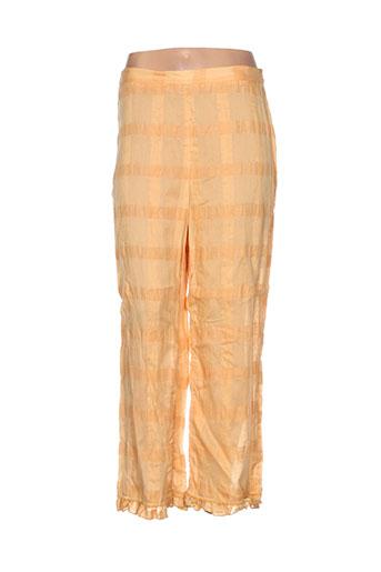 lauren vidal pantalons femme de couleur orange