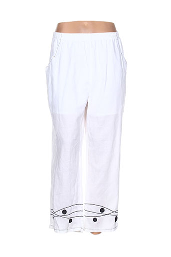 c'melodie pantalons femme de couleur blanc