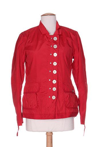 guxy vestes femme de couleur rouge