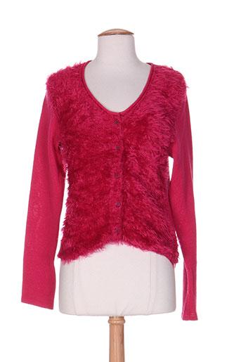 la manufacture 8 linvingstone gilets femme de couleur rose