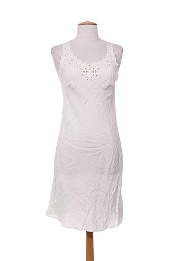 charabia robes femme de couleur blanc