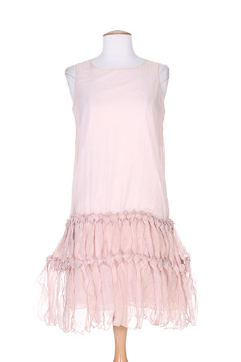 Robe mi-longue rose CHARABIA pour femme