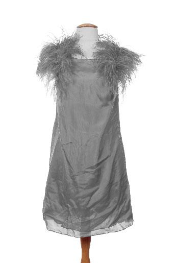 Robe courte gris CHARABIA pour femme