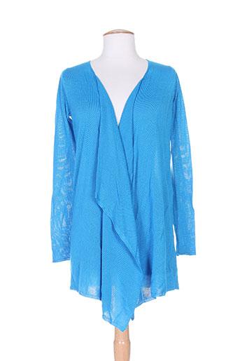 Gilet manches longues bleu CHARABIA pour femme