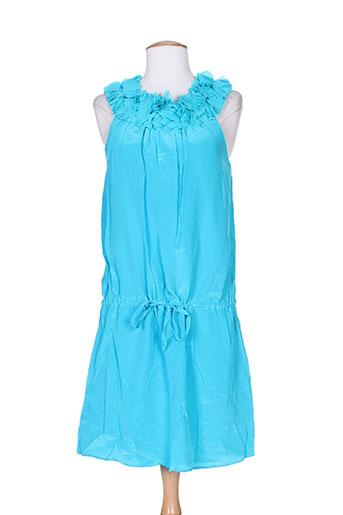 Robe mi-longue bleu CHARABIA pour femme
