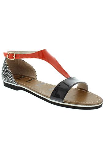 elle sandales et nu et pieds femme de couleur orange