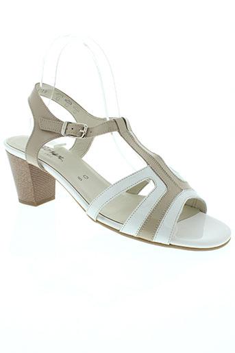 sioux chaussures femme de couleur blanc