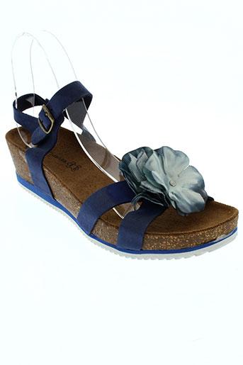 anna et fidanza sandales et nu et pieds femme de couleur bleu