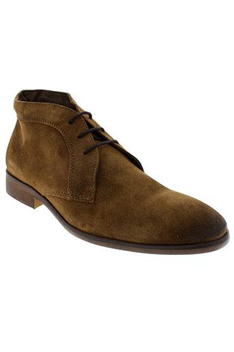 cafeina chaussures homme de couleur marron