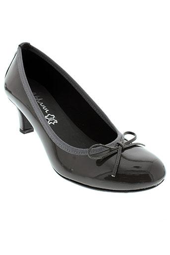 johann escarpins femme de couleur gris