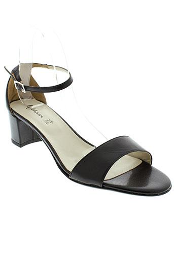 johann sandales et nu et pieds femme de couleur noir