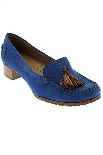 johann mocassins femme de couleur bleu