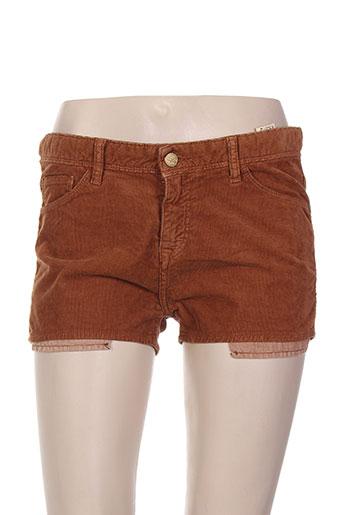 acquaverde shorts / bermudas femme de couleur marron