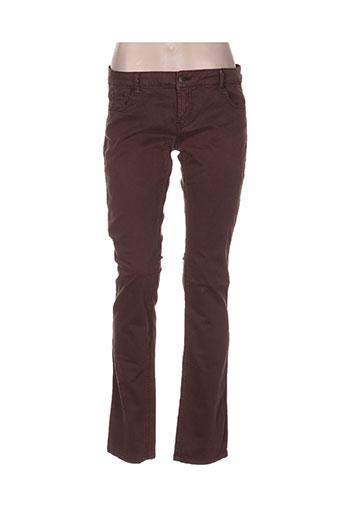 bel air pantalons femme de couleur marron
