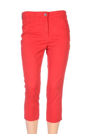 couturist pantacourts femme de couleur rouge