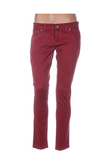 couturist pantalons femme de couleur rouge