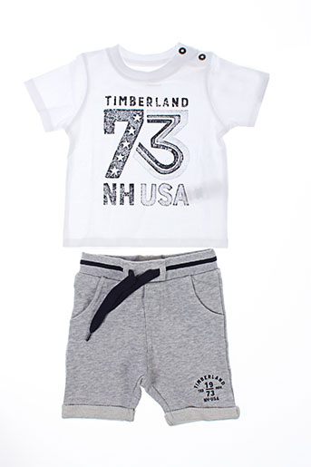 timberland t et shirts et shorts garcon de couleur gris