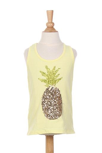 elisabeth puig t-shirts fille de couleur jaune