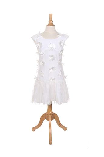 Robe mi-longue blanc ELISABETH PUIG pour fille