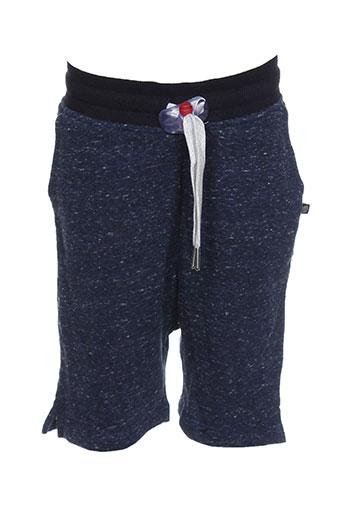sweet et pants bermudas garcon de couleur bleu