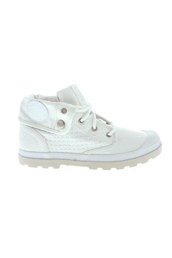 palladium baskets femme de couleur blanc