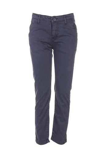 deeluxe pantalons garçon de couleur bleu
