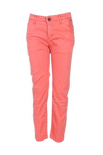 deeluxe pantalons garçon de couleur rouge
