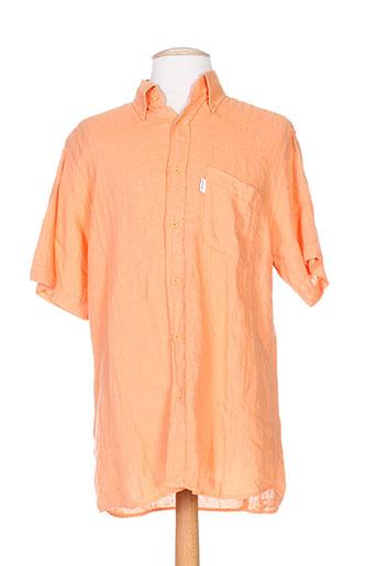 jezequel chemises homme de couleur orange