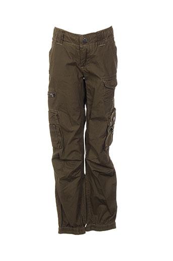 pepe jeans pantalons fille de couleur vert