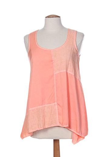la stampa chemises femme de couleur orange
