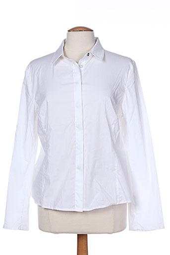 la stampa chemises femme de couleur blanc