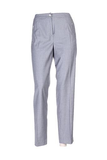 leslie pantalons femme de couleur gris